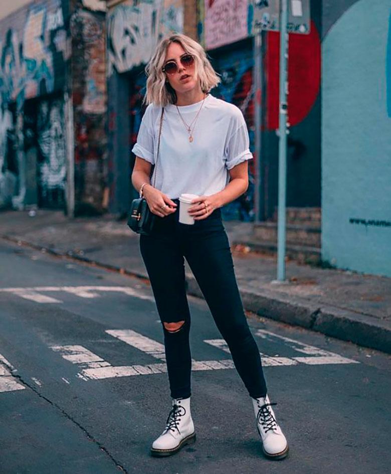 21 Ideas con looks para tu camiseta blanca