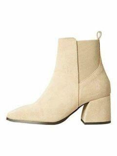 VERO MODA VMESA Leather Boot Botas Cortas al Tobillo b08l6rr6wy