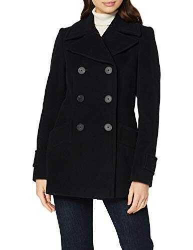 Daniel Hechter Wool Coat Abrigo Negro (Black 990) 40 b07p3c93c9