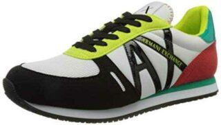 Armani Exchange Rio Retro Running Sneaker Mujer b08cksd662