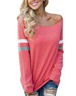 YOINS Camiseta de Manga Larga para Mujer Camisas con b07h7l32k9