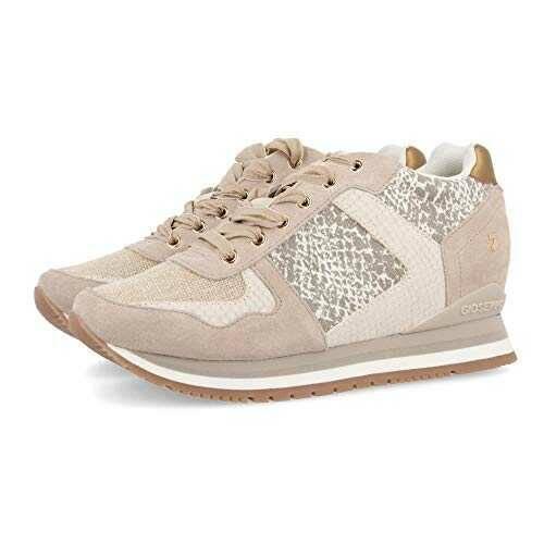Sneakers Beige con cuña Interna para Mujer HOWRAH b07y8fvq3z