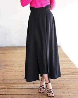 The Drop Falda para Mujer Maxi de Paneles con Bajo b08w5tjslj