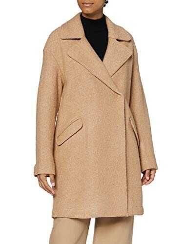 OPUS Halba Abrigo de Lana Creamy Camel 38 para Mujer b089mbv1r9