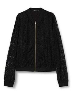 Only ONLMINA L/S Lace Bomber WVN Chaqueta Negro S b089ysvpxg