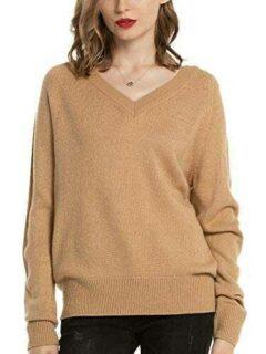 Woolen Bloom Jersey Punto Mujer Básico V Cuello b07vhhwdlq