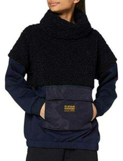 G-STAR RAW Carley High Collar suéter Azul Mazarine b084r17lrv