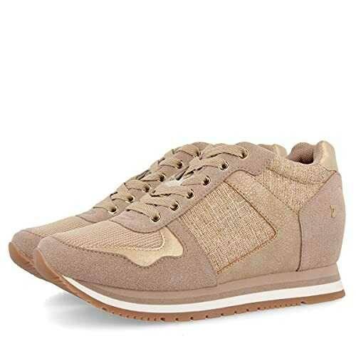Sneakers básicos Dorados con cuña Interior para b07y8dmfjg