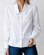 The Drop Camisa para Mujer Abotonada con Cuello b08ykjjh5s