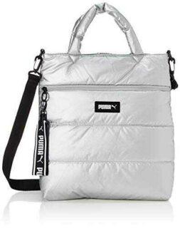 PUMA Prime Puffa Shopper Bolso Mujeres Blanco b084qtqq95