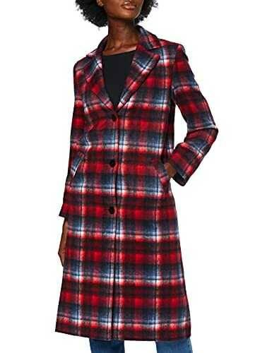 Marca Amazon find. Tartan City Coat Abrigo Mujer b07gjz1x9q