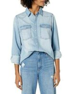 The Drop Camisa para Mujer Kathryn Vaquera de Manga b08ddy3xvq