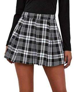 Maeau Mujer Faldas Escocesa Plisada con Cintura b09245vptz