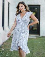 The Drop Vestido para Mujer Midi Envolvente con b08blktp7v