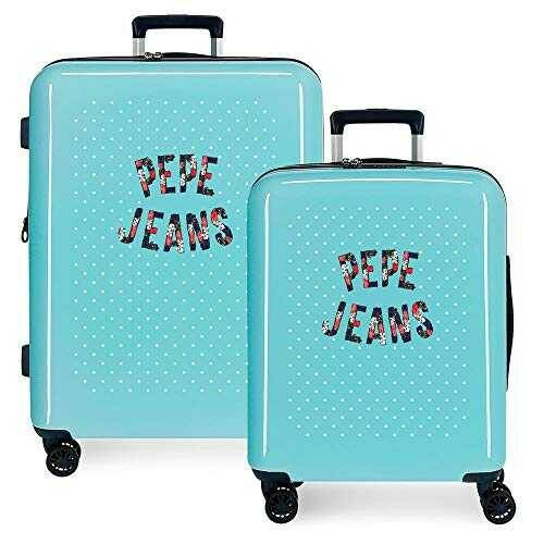 Pepe Jeans Emory Juego de Maletas Azul 55/70 cms b085h2kh8l