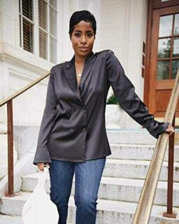 The Drop Camisa para Mujer con Doble Botonadura b08kjwwzjd