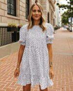 The Drop Vestido con Corte Escalonado para Mujer por b0883t4dxk