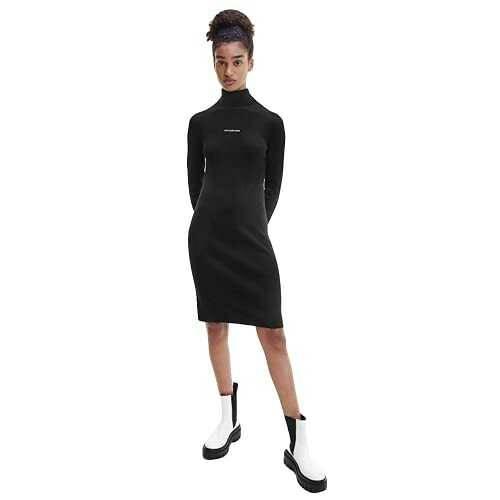 Calvin Klein Jeans Micro Branding Sweater Dress b08t9df6js
