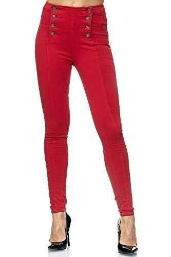 elara Jeans Mujer Skinny Fit Cintura Alta b07qq2k9x6