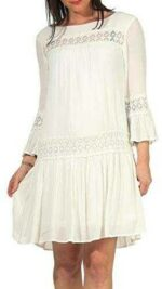 Only Onltyra 3/4 Flare Short Dress Wvn Noos Vestido b085smgvhg