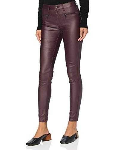 Marca Amazon find. Pantalones Mujer Burdeos oscuro b078vg6kc7