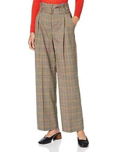 Marca Amazon find. Pantalón de Cuadros con Cintura b082pk36ld