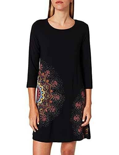Desigual Dress Mara Vestido Negro (Negro 2000) L b07n3sz2sw
