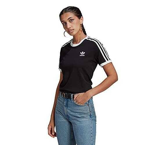 adidas GN2900 3 Stripes tee T-Shirt Womens Black 40 b08pl3gw2x